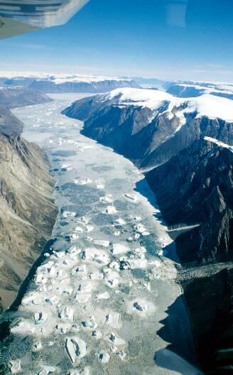 arktische tundra und eiswüste
